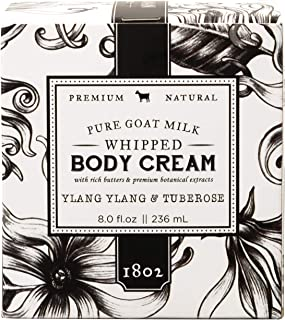 product image for Beekman 1802 - Whipped Body Cream - Ylang Ylang & Tuberose - Goat Milk Body Butter, Daily Hydration for Dry Skin - Naturally Exfoliating Body Cream for Sensitive Skin - Goat Milk Bodycare - 8 oz
