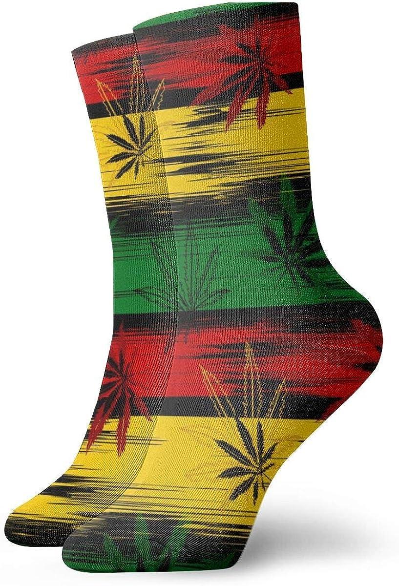 Calcetines unisex de marihuana cannabis de moda novedad calcetines deportivos secos