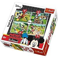Trefl Çocuk Puzzle Mickey Mouse & Friends. Disney 35+48+54+70 Parça 4 in 1 Puzzle