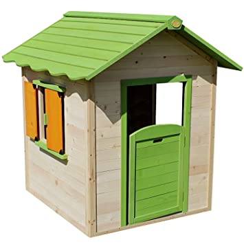 Big Game Hunters Chestnut Pre Painted Wooden Playhouse, Easy Assembly  Childrens Outdoor Wendy Play House
