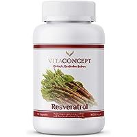 Resveratrol I 500 mg Trans-Resveratrol per kapsel, 90 kapslar (3 månader), Trans-Resveratrol från japanska fleråriga…