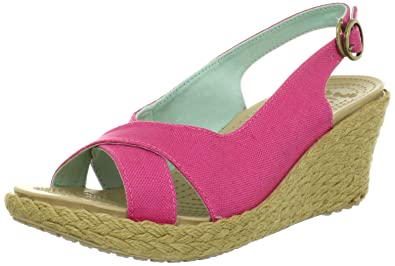 4380bca26e2e crocs Women s A-Leigh Linen Slingback Wedge