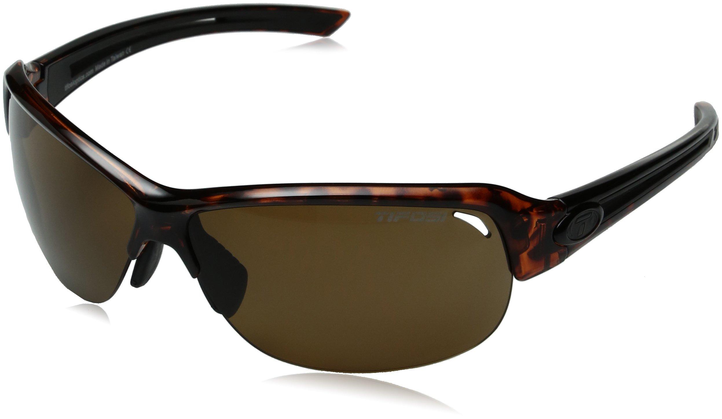 Tifosi Golf Mira Polarized Wrap Sunglasses, Tortoise, 142 mm