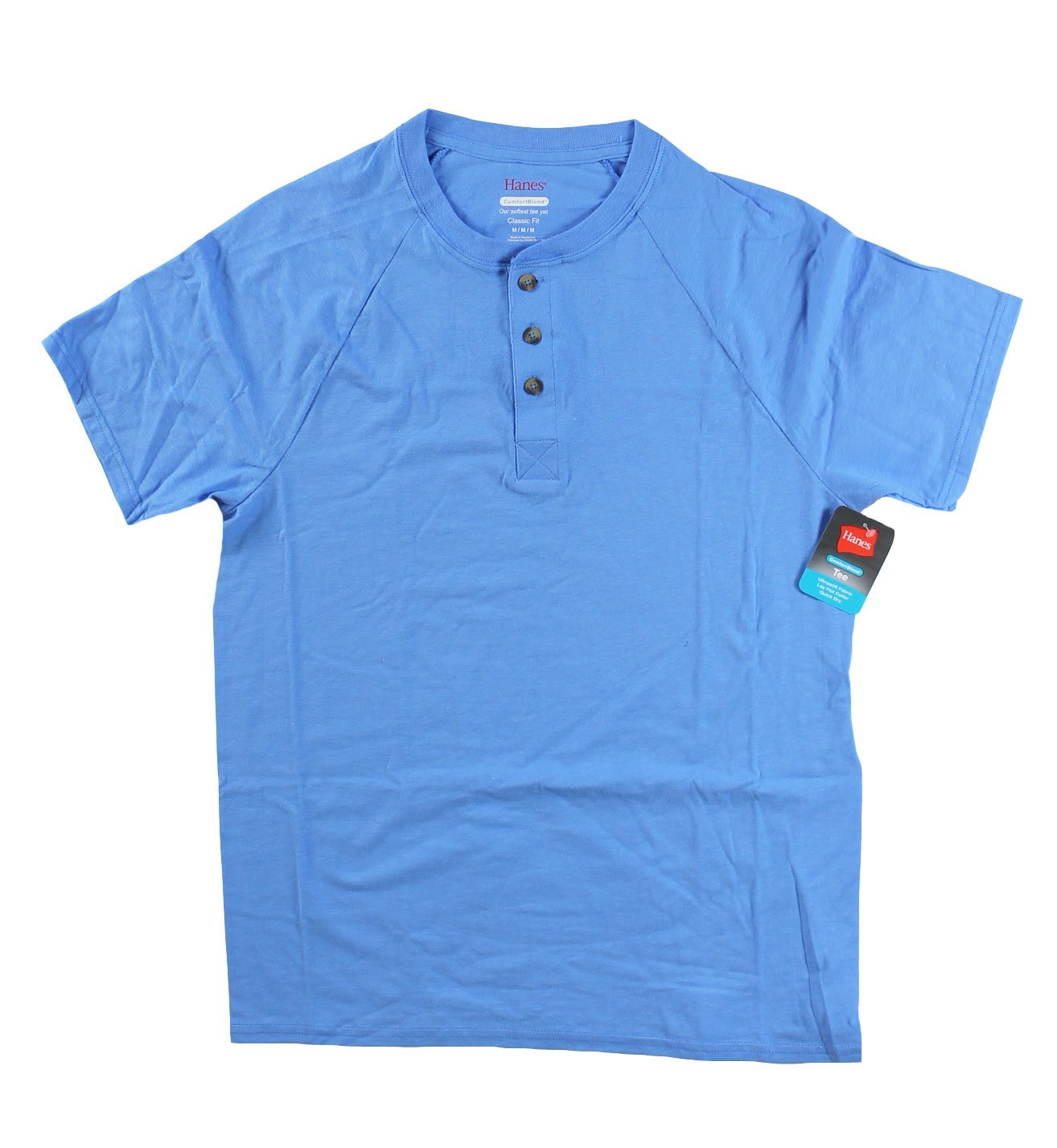 Hanes Men's Tagless Crewneck T-shirt (Pack of 5) (Medium, Blue Henly (X-Temp)) by Hanes