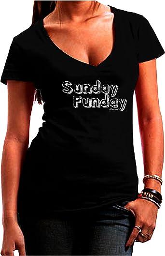TooLoud Sunday Funday Text Design Dark Muscle Shirt