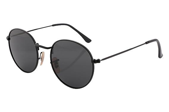 4919aa5c772 FEISEDY Polarized Vintage Unisex Round Glasses Metal frame UV400 Sunglasses  B2258  Amazon.co.uk  Clothing