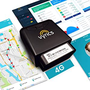 GPS Tracker for Vehicles Vyncs 4G LTE - No Monthly Fee Real Time Tracker 1 Yr Data, SIM - USA-Developed Car Truck Tracker OBD Trip Driver Alert OBD2 Data Teen Senior Family Fleet Alexa. Actvn Fee Reqd