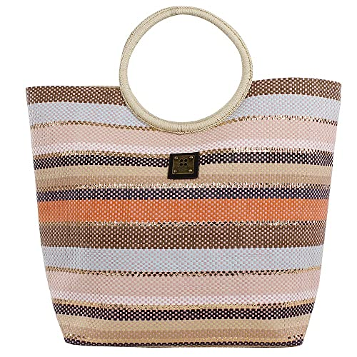 newest b54a4 dcbc0 Bolso Multicolor Time Mano Para Tela For Rafia De Playa Y 7gPFnOWOqZ