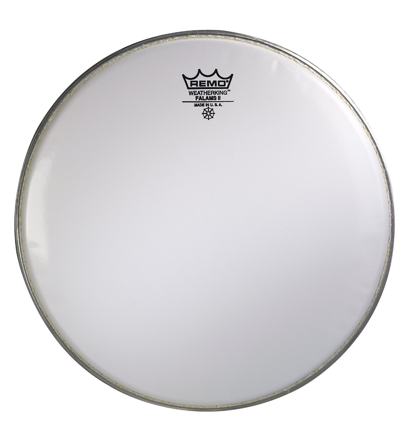 Remo KS0214-00 Smooth White Falams II Marching Snare Batter Drum Head (14-Inch)