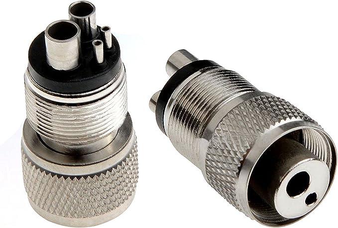 QINS 1Pcs Dental Accessories Handpiece Turbine Adapter Holes Changer 2 To 4 Holes Dental Handpiece Tubing Adapter