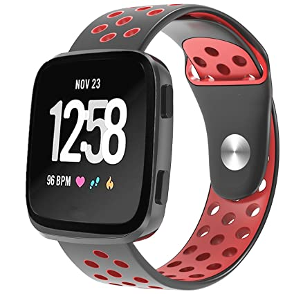 Amazon.com: Bozhan para Fitbit Versa silicona suave deporte ...