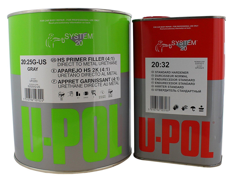 U-POL 1 Gallon (4.2 VOC) High Solids High Build Urethane Primer Kit with Standard (60 to 95 F) Temperature Hardener by U-Pol