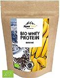 ALPENPOWER | BIO WHEY Protein Banane | Ohne Zusatzstoffe | 100% natürliche Zutaten | 7 Sorten | Bio-Milch aus Bayern und Österreich | Superfood Banane | Hochwertiges Eiweiß | Low Carb | Organic Whey | 500 g