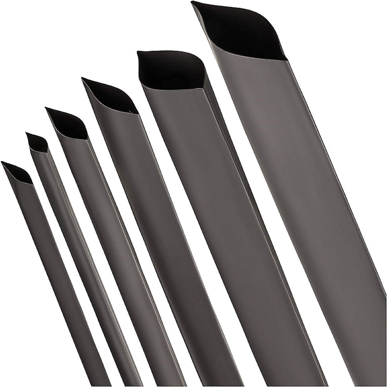 ISO-PROFI/® Tubo Retr/áctil de rango 2:1 negro Selecci/ón de 10 di/ámetro y 6 longitudes en este caso: /Ø 100mm - Longitud: 1m