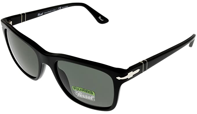 aa2ca95734 Image Unavailable. Image not available for. Colour  Persol Sunglasses Mens  Black Wayfarer Polarized PO3135S 95 58