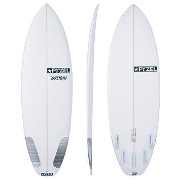 Pyzel Gremlin Futures - Tabla de Surf (5 Aletas, 1,8 m), Color Blanco: Amazon.es: Deportes y aire libre