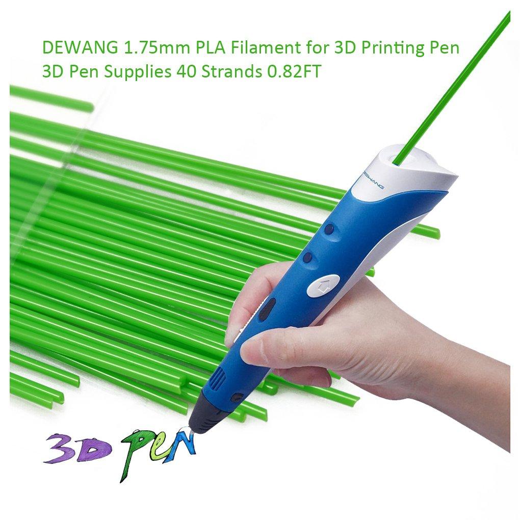 dewang Impresora 3d filamento de 40 Cuerdas 1.75 mm PLA plástico ...