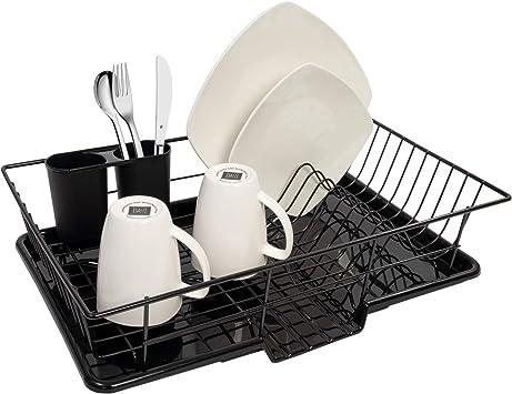 Amazon.com: Sweet Home Collection 3 Piece Rack Set Dish ...
