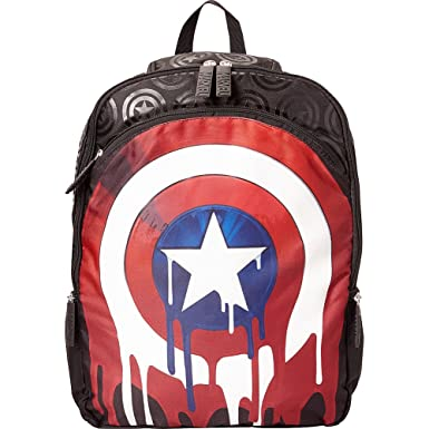 Image Unavailable. Image not available for. Color  Marvel GDC Captain  America Drip Shield Laptop Backpack (Black) caf92dd3ef8c6