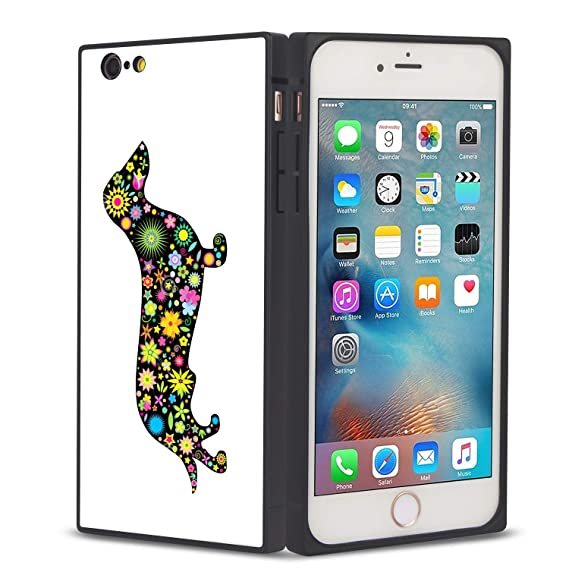 new styles d47cd 6224b Amazon.com: Dachshunds iPhone 8 Plus 7 Plus case Protective Square ...