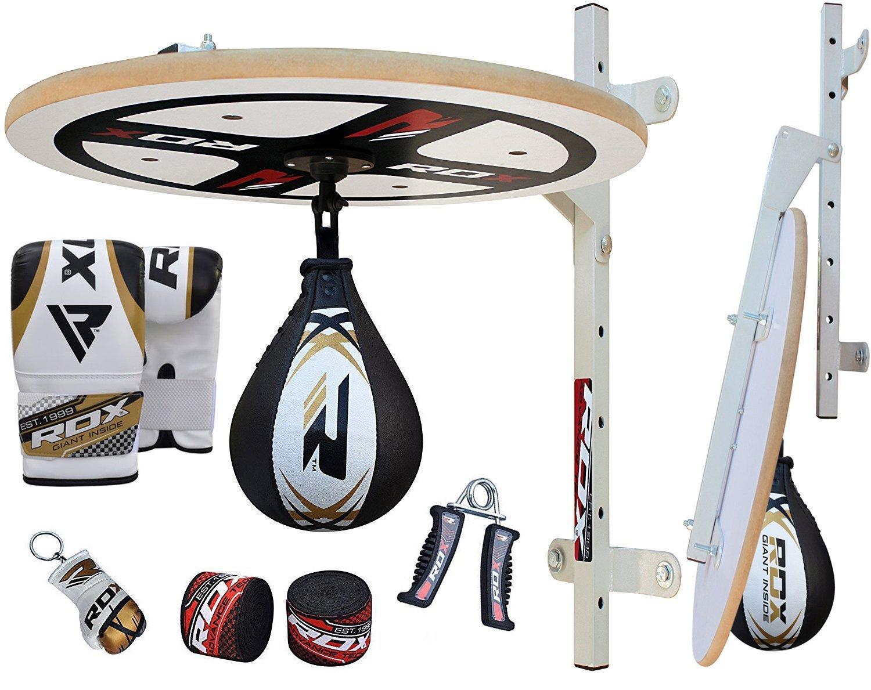 RDX 10PC Piattaforma Punchingball Maya cuoio Palla Tesa Per Speed Ball Bag Veloce Boxe Allenamento Pugilato