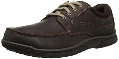 Clarks Men's Randle Walk Oxford, Dark Brown Leather, ...