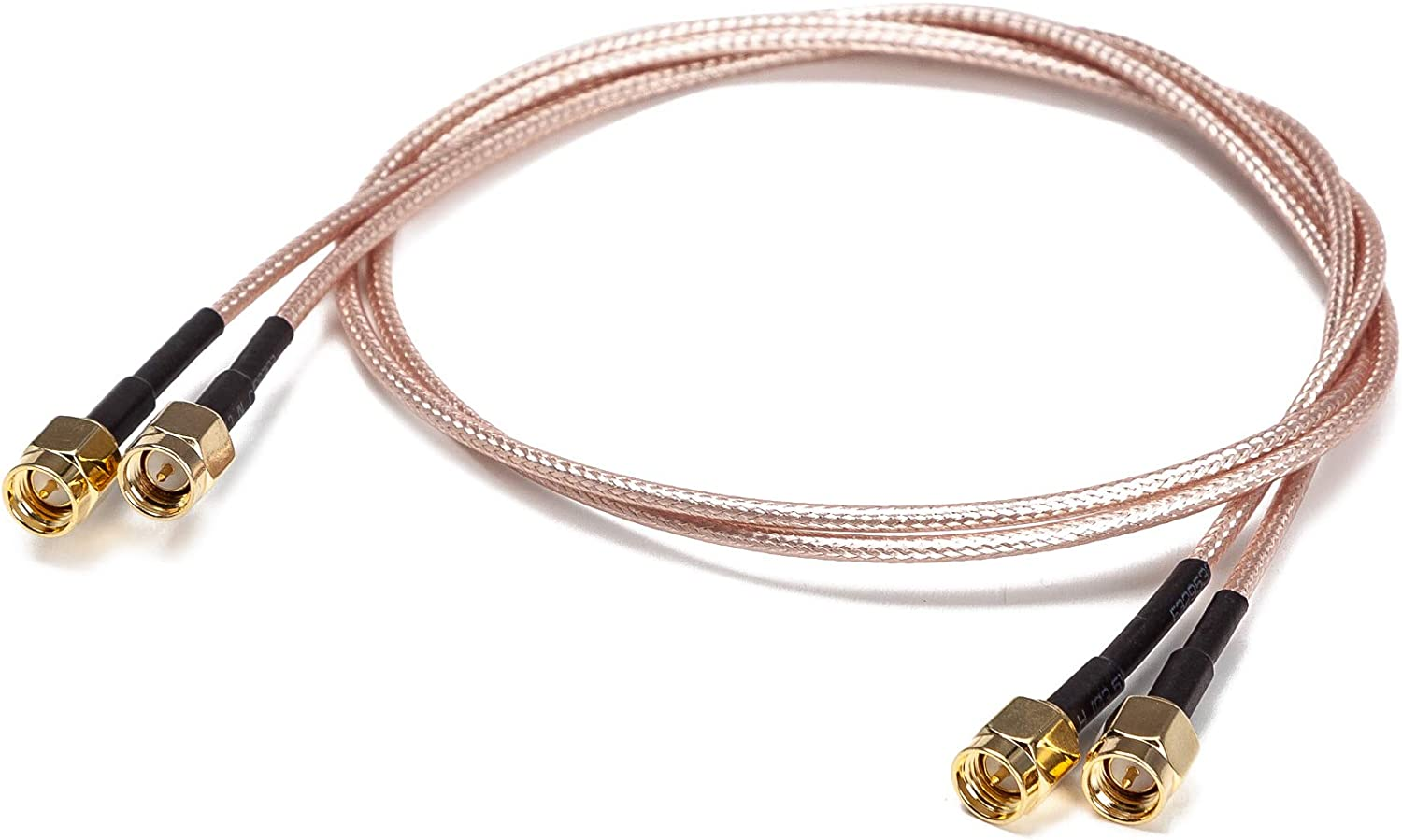RFAdapter 2-Pack 0.5ft SMA Male to Male RF Coaxial Coax Cable RG316 Antenna Extender Adapter Jumper SMA Cable