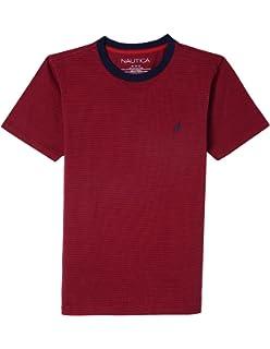 bf2a8c0fdd6a Nautica Boys  Short Sleeve Striped Crew-Neck T-Shirt