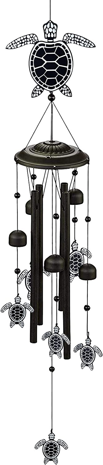 """MEMGIFT Sea Turtle Wind Chimes for Outside 32"""" Beach Room Indoor Home Patio Garden Déco Hanging Yard Porch Trendy Handmade Animal Windchimes for Family Decoration Friendship"""
