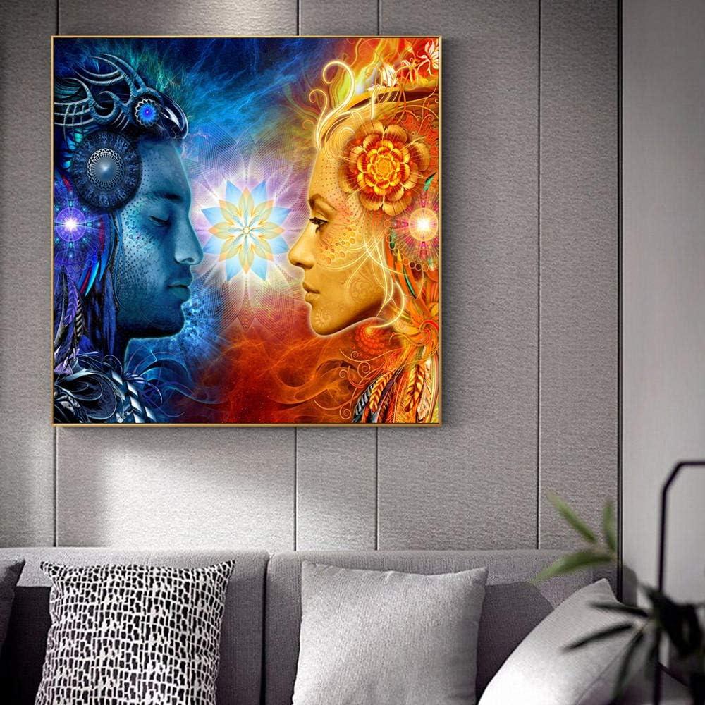 renzhen Tantra Shiva and Shakti Wandkunst Leinwanddrucke Hindu G/ötter Pop Art Poster An Der Wand Gem/älde Bilder F/ür Wohnzimmer ungerahmt@ 30x30cm