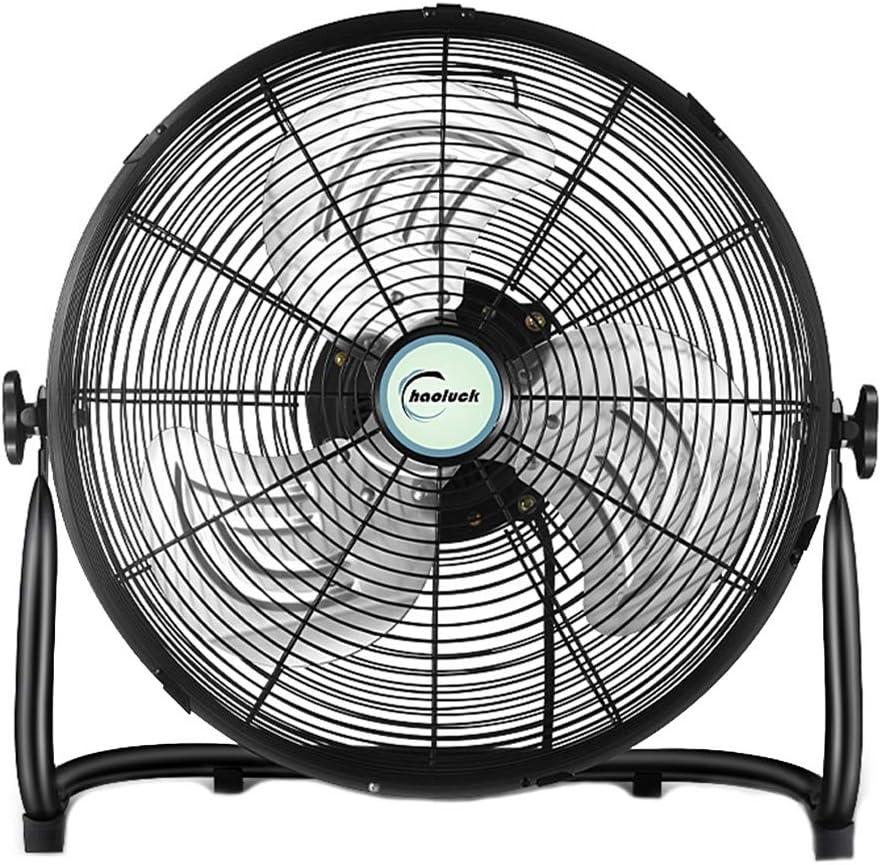 Soporte Ventilador de enfriamiento Ventilador de Metal Ventilador de enfriamiento Silencio Silencioso Chrome Metal Alta Velocidad Circulador de Aire frío Ventilador de Piso Ajustable