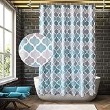 ANYEV Shower Curtain Bathroom Geometric Bath Curtain Waterproof Fabric Curtain Set with 12 Hooks Suits for Bathtub Bathing Co