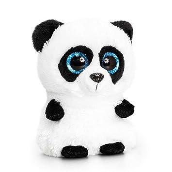 ce09bf55d7ebd Keel Toys Mini Motsu 10cm Noodles The Panda Plush Toy (10cm) (White Black)   Amazon.co.uk  Baby