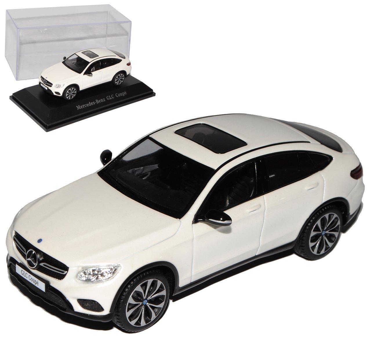 Spark Mercedes-Benz GLC Coupe X253 SUV Diamant Weiss Ab 2015 1/43 Modell Auto mit individiuellem Wunschkennzeichen