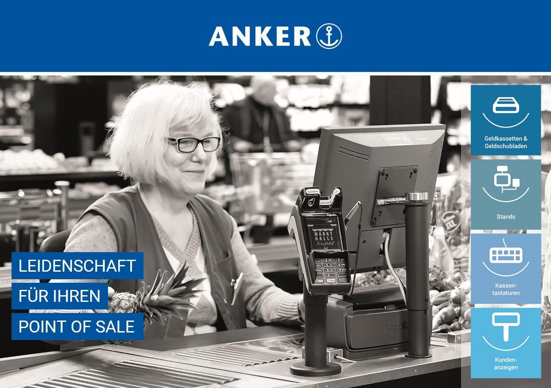 Halterung f/ür EC-Kartenleseger/ät Yomani mit Schloss Anker Kassensysteme GmbH