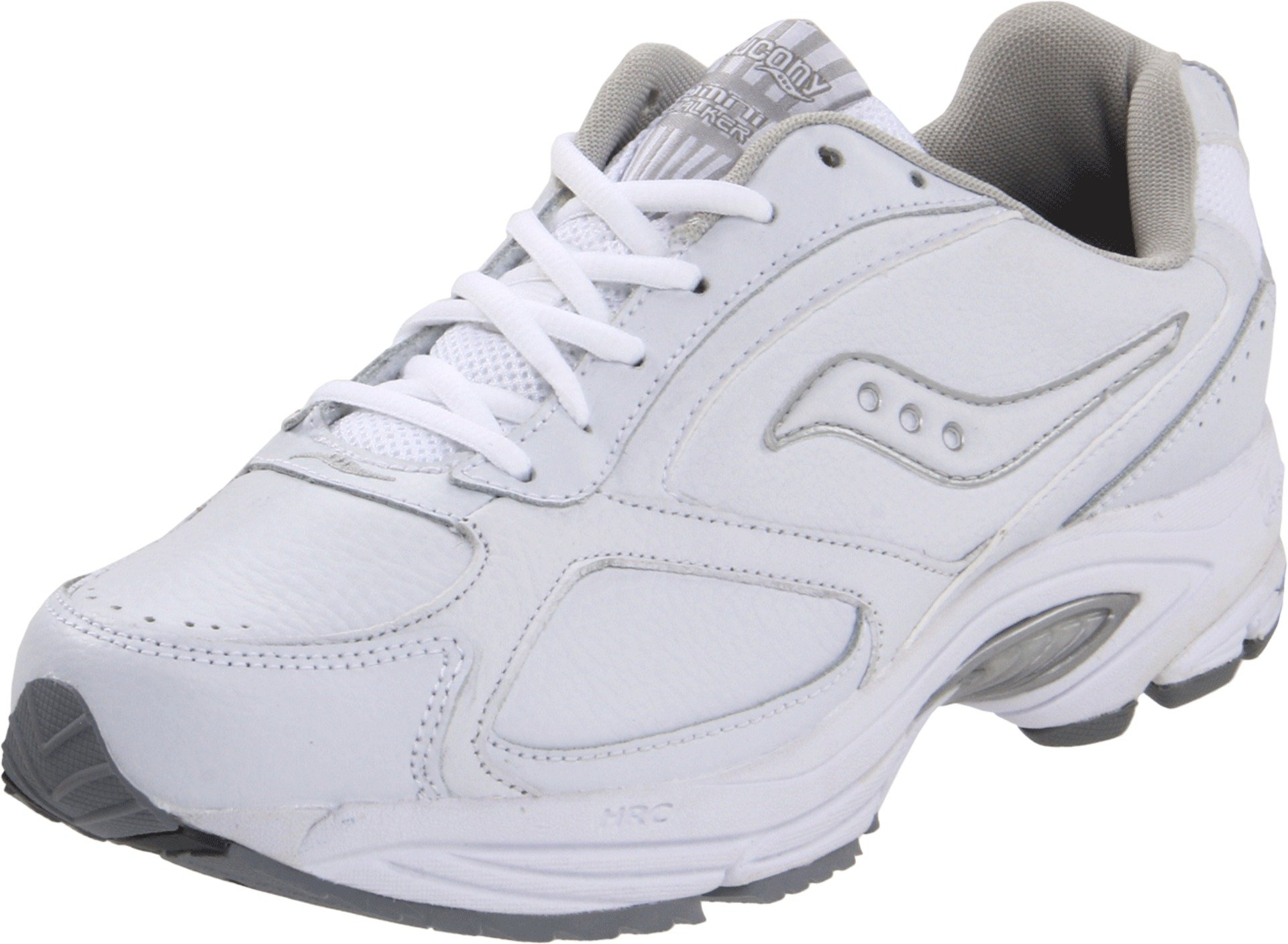 Saucony Men's Grid Omni Walker Walking Shoe, White/Silver, 12 D-Medium by Saucony