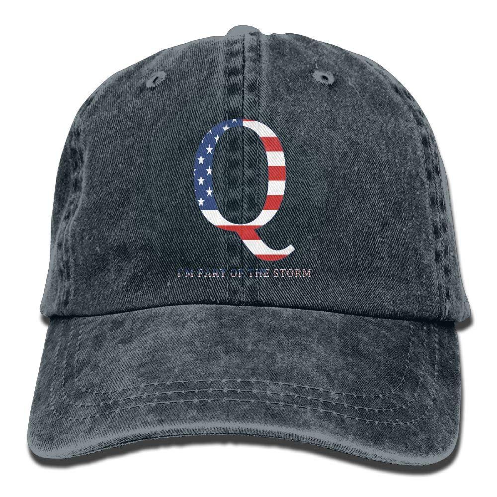 LETI LISW QAnon American Flag I'm Part The StormClassicBaseball Cap Adult Unisex Adjustable Cap