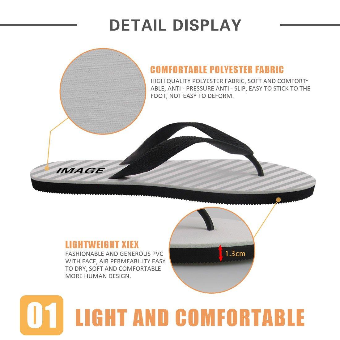 Linhuizhen Flamingo Flip Flops for Women and Men Summer Beach Slippers Fashion Sandals