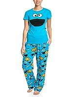 Barrio Sesamo Monstruo de las Galletas Pijama Azulón