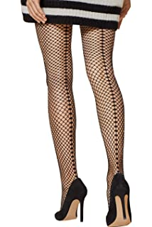 1cc6a9774 Fiore Seduce Glitter Backseam Hold Ups  Amazon.co.uk  Clothing