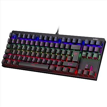 aukey mechanical keyboard rainbow led backlit gaming amazon co uk