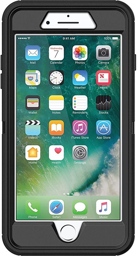 Amazon Com Otterbox Defender Series Case For Iphone 8 Plus And Iphone 7 Plus Retail Packaging Black