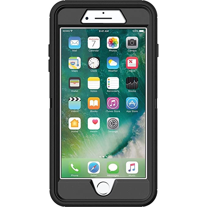 best loved 4c614 36e63 OtterBox Defender Series for iPhone 7/iPhone 8 - Black