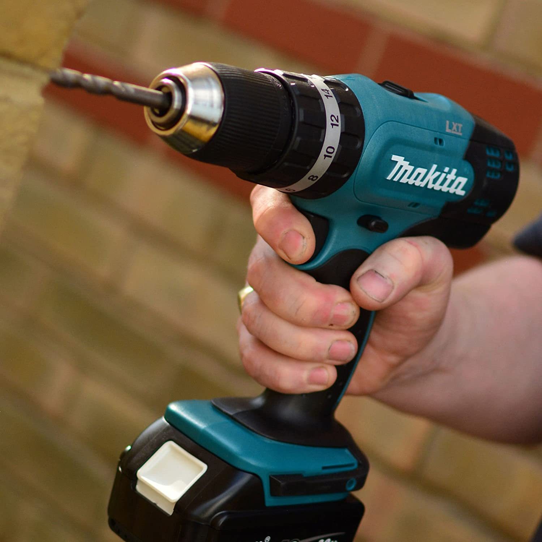18 V Makita DHP453SFTK 18V LXT Combi Drill with 101 Piece Accessory Set BHP453RFTK
