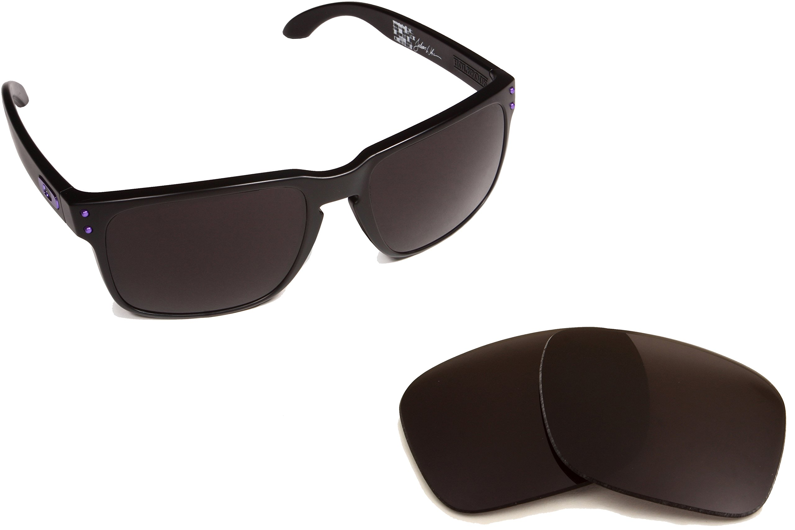 Best SEEK OPTICS Replacement Lenses Oakley HOLBROOK - Polarized Black