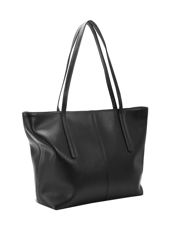 d78801ab469 Amazon.com: Heshe Women's Leather Handbags Work Totes Bag Top Handle Bags  Shoulder Handbags Ladies Purses (Black-R044): Shoes
