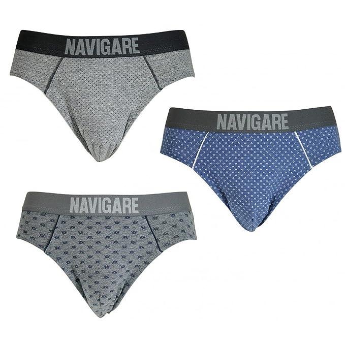 aaa1217f7796db Navigare Offerta 3 Slip Uomo Cotone Elasticizzato Tg 4/M-5/L-6/XL-7/XXL  730Z: Amazon.it: Abbigliamento
