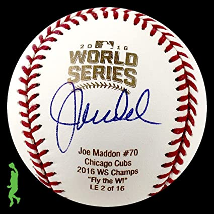 Joe Maddon Autographed Signed 2016 World Series Baseball Ball Cubs Jsa Coa Sports Mem, Cards & Fan Shop