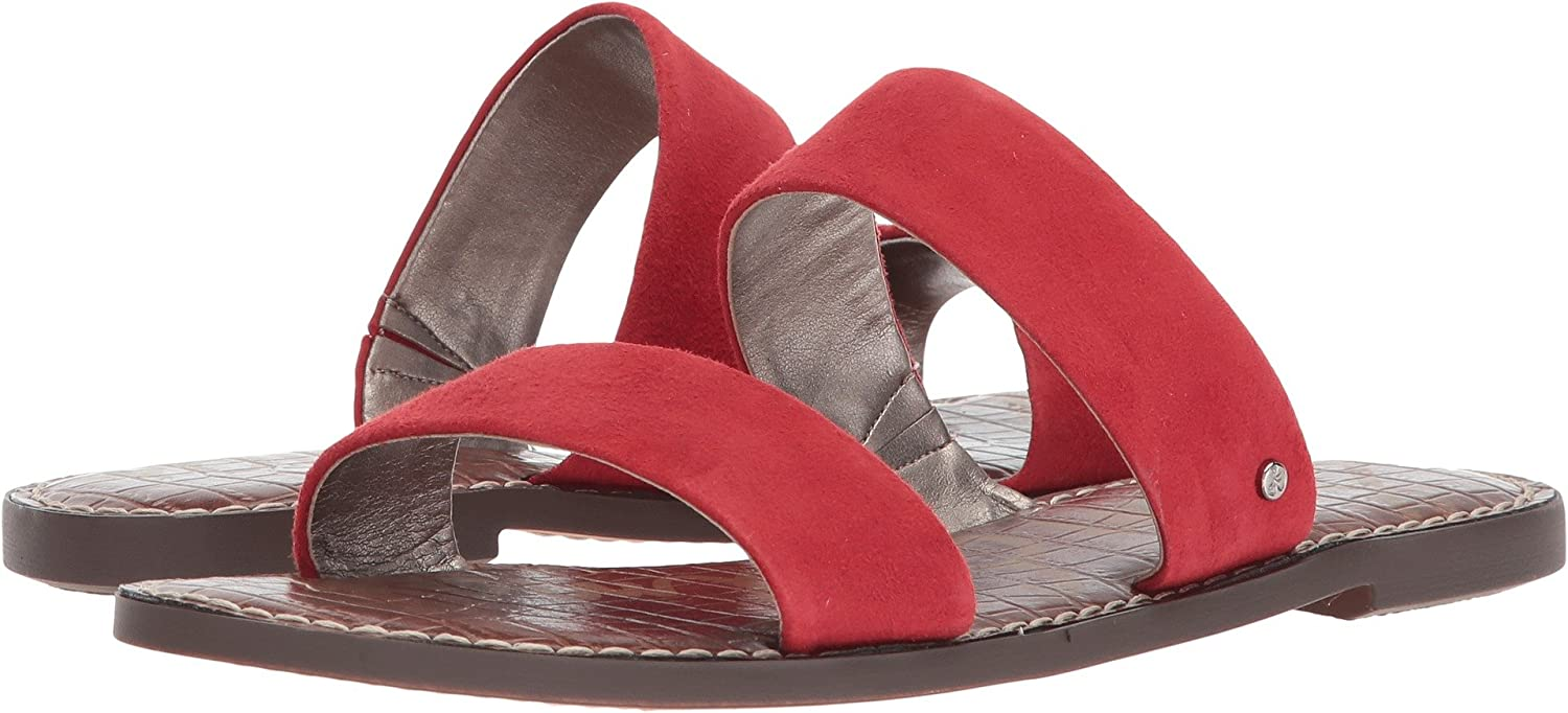 Sam Edelman Women's Gala Slide Sandal B076MFKS7W 8.5 W US|Red Kid Suede Leather