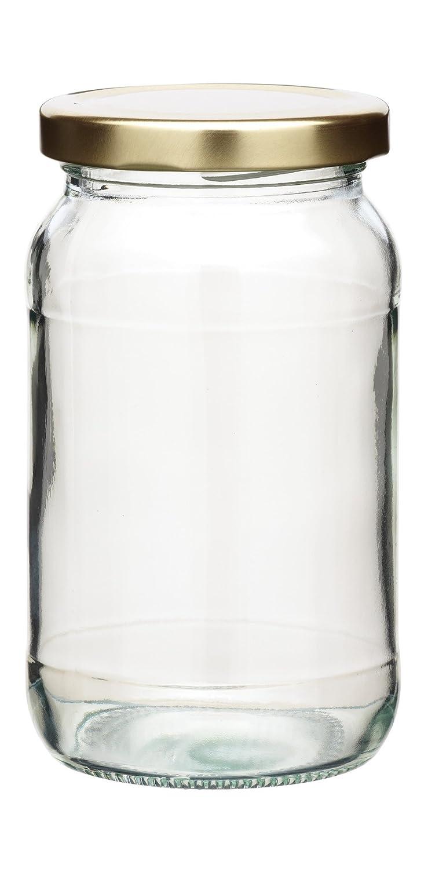 KitchenCraft Home Made Round Jam Jar with Twist-off Lid Kitchen Craft KCJARRD1 Food_Storage Preserving Jar